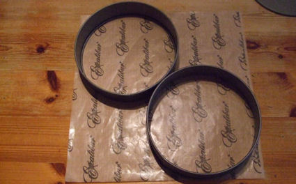 20cm cake tin rings - two on a sheet