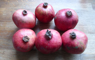 six pomegranates