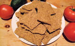 Basic flax seed crackers
