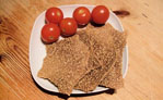 Sesame and flax seed crackers II