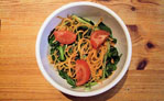 Watercress with sweet potato noodles